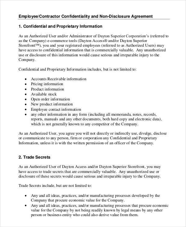 Contractor Confidentiality Agreement Here Is Preview Of Another - contractor confidentiality agreement