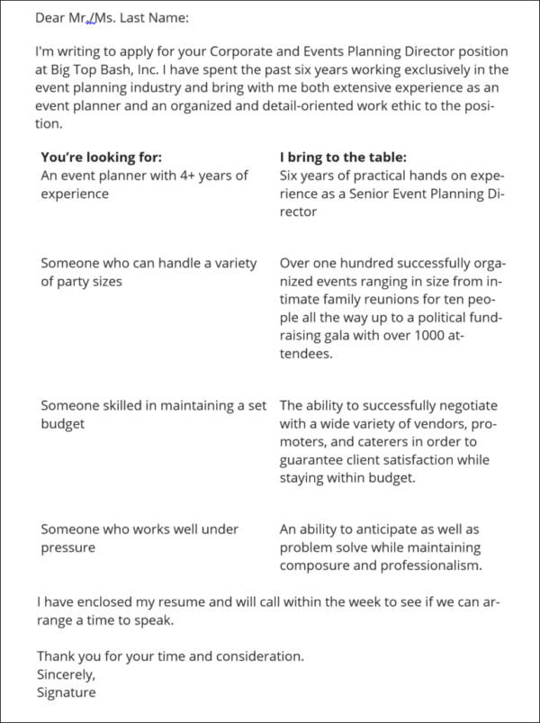 Stunning Event Manager Cover Letter Photos - Best Resume Examples by ...