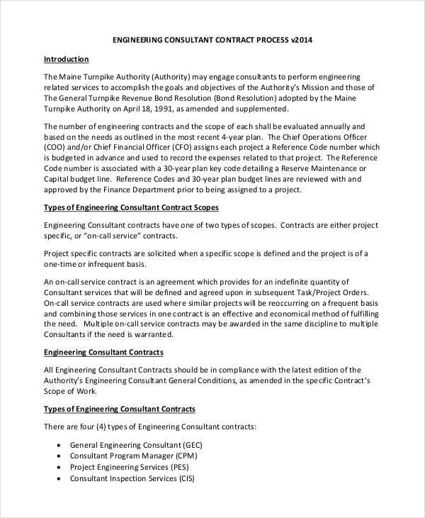 5 Consulting Contract Templates - Free Sample, Example - project contract templates