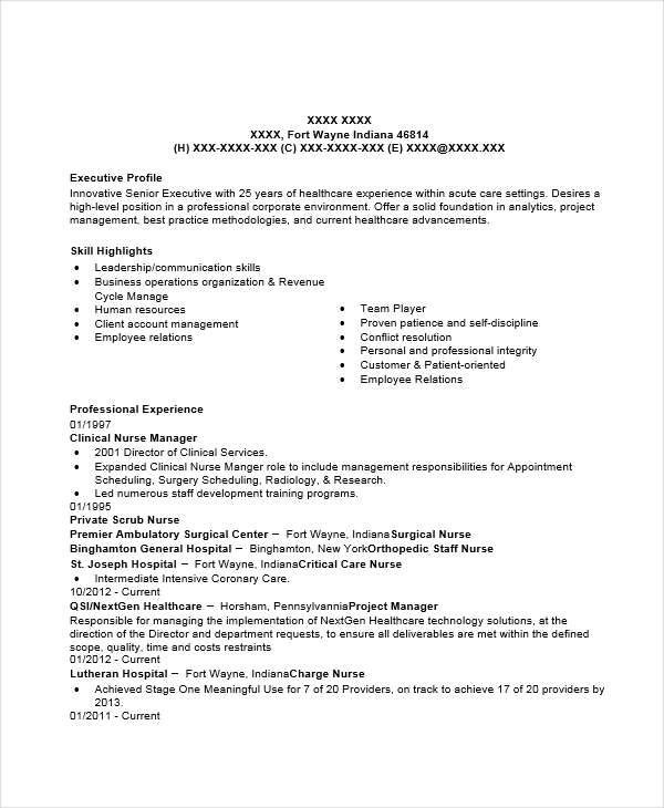Sample Resume For Nurse Manager Position Sample Resume Format