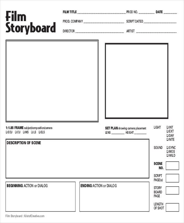 8+ Film Storyboards \u2013 Free Sample, Example, Format Download Sample