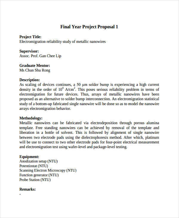 46+ Project Proposal Formats