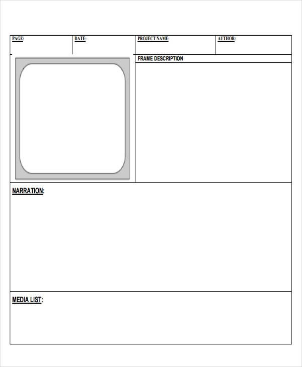 8 Digital Storyboard Templates - digital storyboard templates