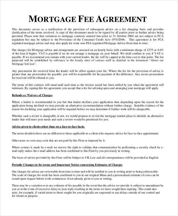 6+ Mortgage Contract Templates - Free Documents in PDF, Word - mortgage contract template