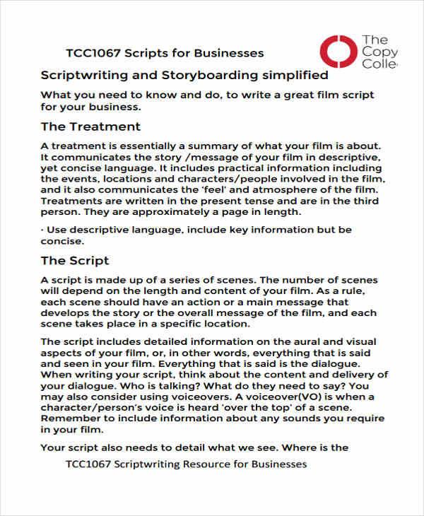 6+ Script Storyboard \u2013 Examples in Word, PDF Sample Templates