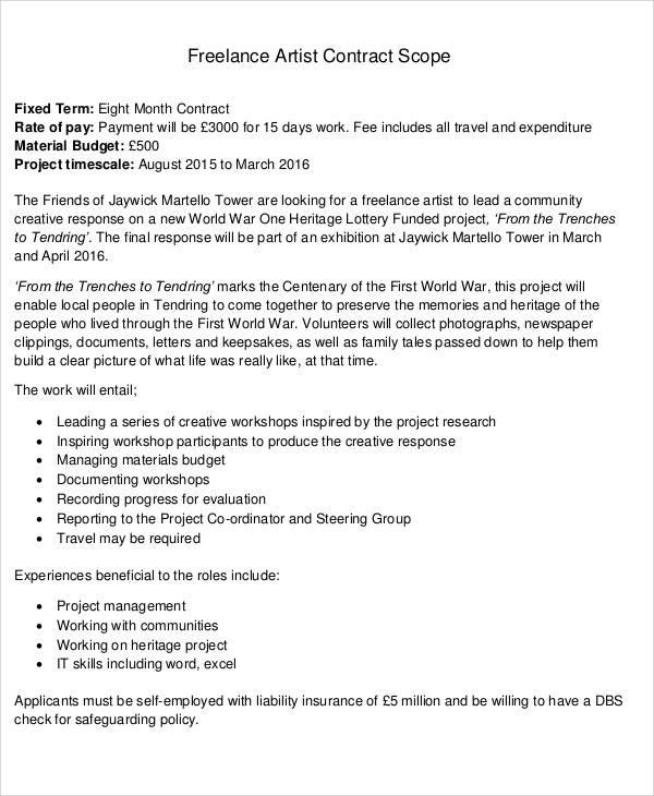 Freelancer Agreement Images - Agreement Letter Format