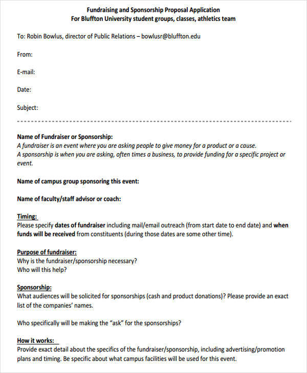 Fundraiser Proposal Template fundraising proposal templates - fundraising proposal template