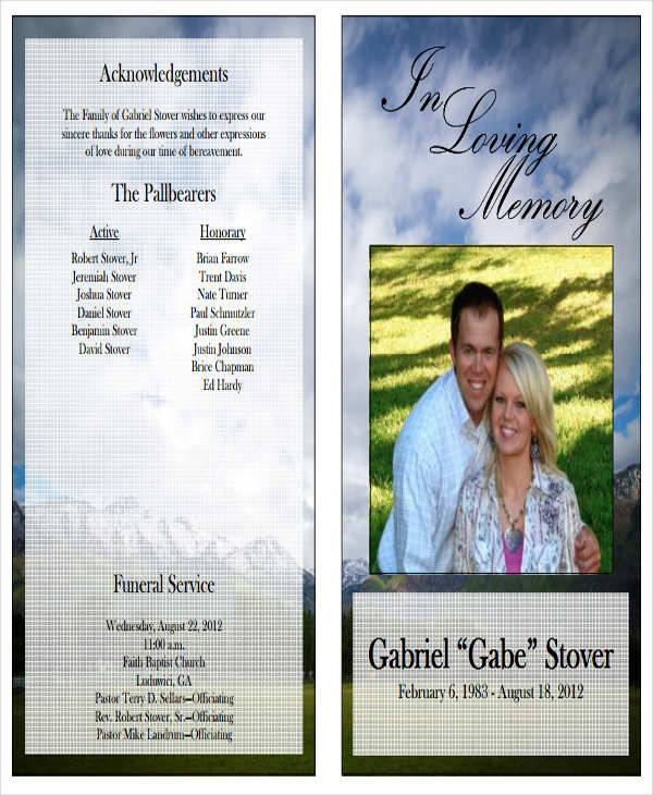 Free Template For Funeral Program  NodeCvresumePaasproviderCom