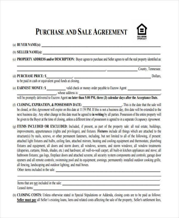 8+ House Sales Contract Samples  Templates in PDF - house sales contract