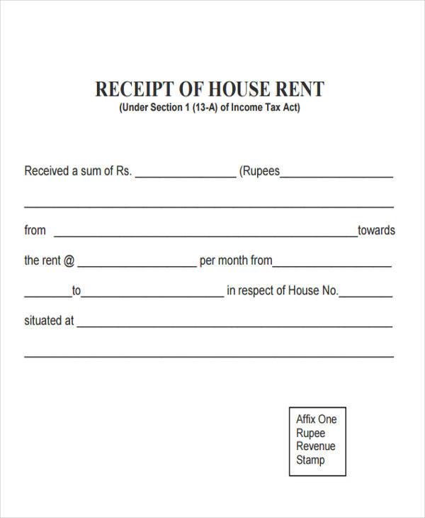 House Rent Slip Format \u2013 Free Professional Resume Templates
