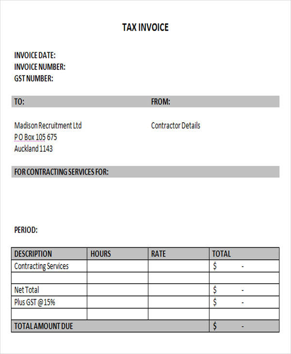 18+ Free Contractor Invoice Samples Sample Templates - contractor invoice