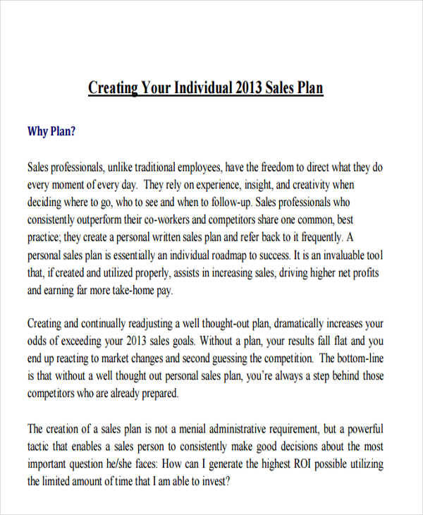 26+ Sales Plan Examples - sales plan