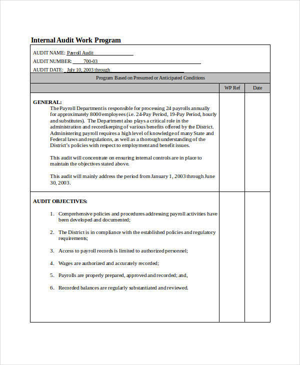 free program template download