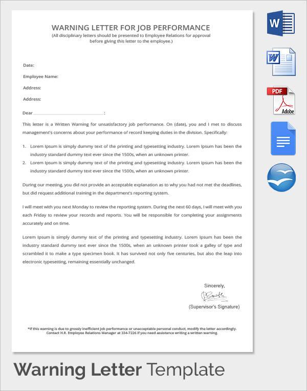 writing warning letter for employee conduct - Basilosaur
