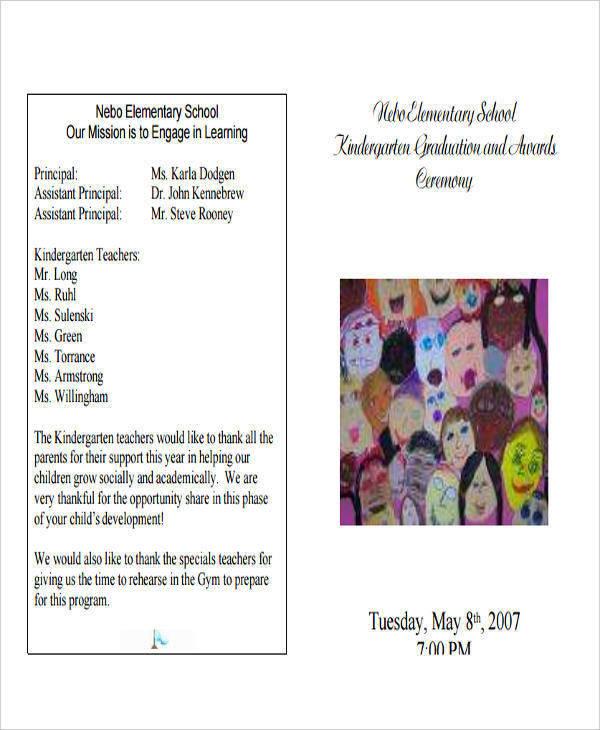 preschool graduation program templates