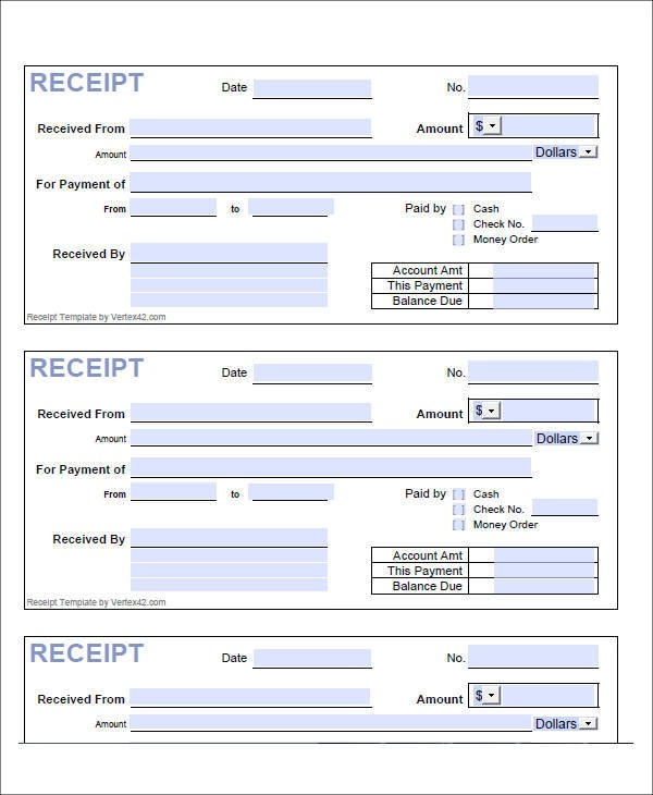 8+ Loan Receipt Templates \u2013 Examples in PDF Sample Templates