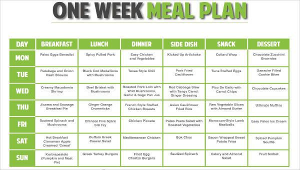 8+ Meal Plan Samples  Templates in PDF