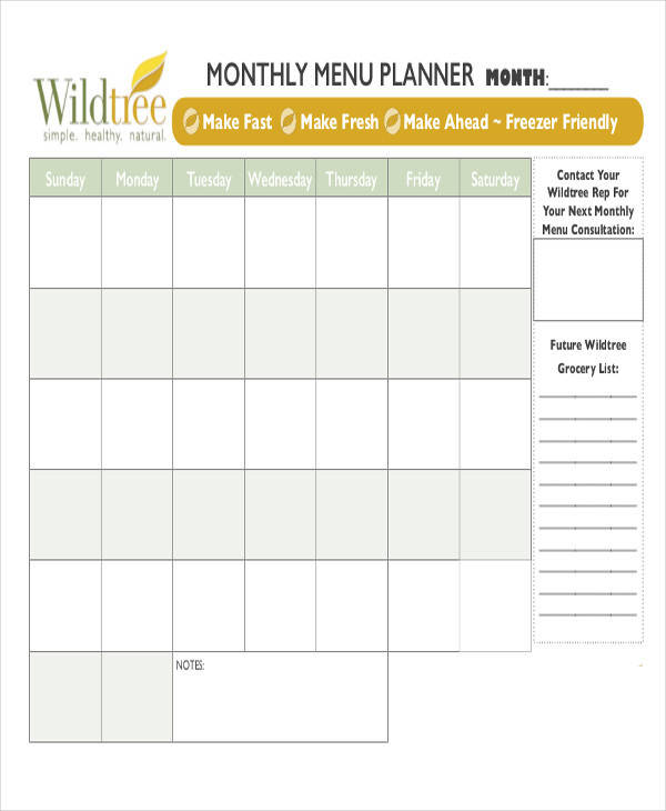 Menu calendar template jobs.billybullock.us