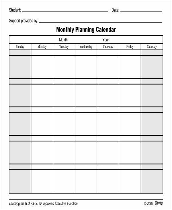 36 Printable Calendar Samples  Templates Sample Templates - monthly planning calendar
