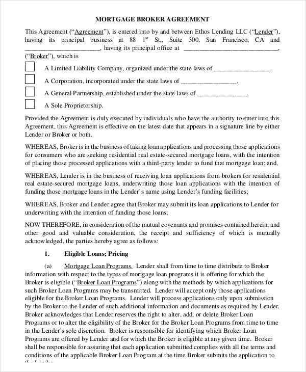 8+ Mortgage Contract Templates - Free Sample, Example, Format Download - mortgage contract template