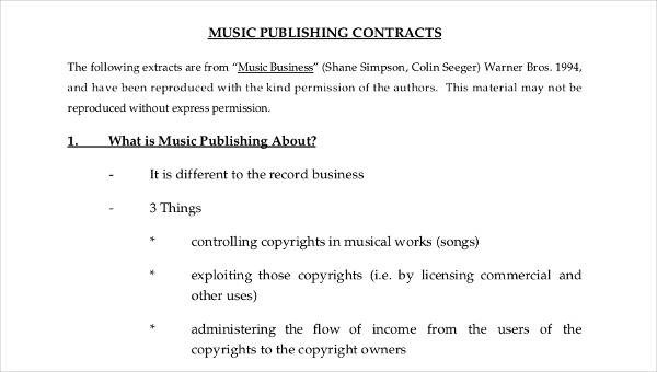 Music Contract Template Image collections - Template Design Ideas