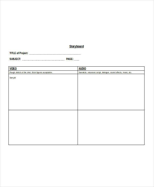 8+ Sample Video Storyboard Templates - PDF, Word