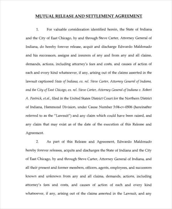 mutual release agreement - Pinarkubkireklamowe