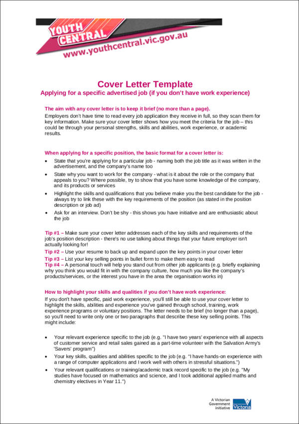 How Your Experience Level Impacts Your Cover Letter  Letterhead