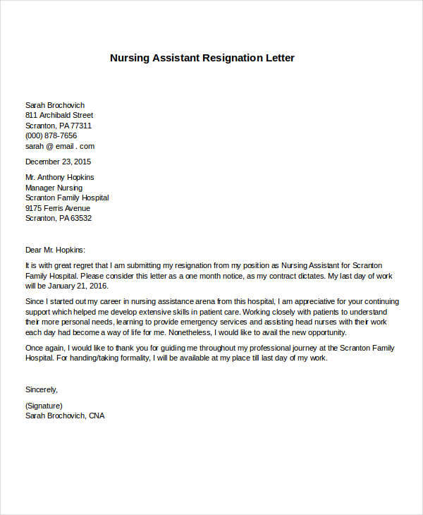 30+ Formal Resignation Letter Samples Sample Templates
