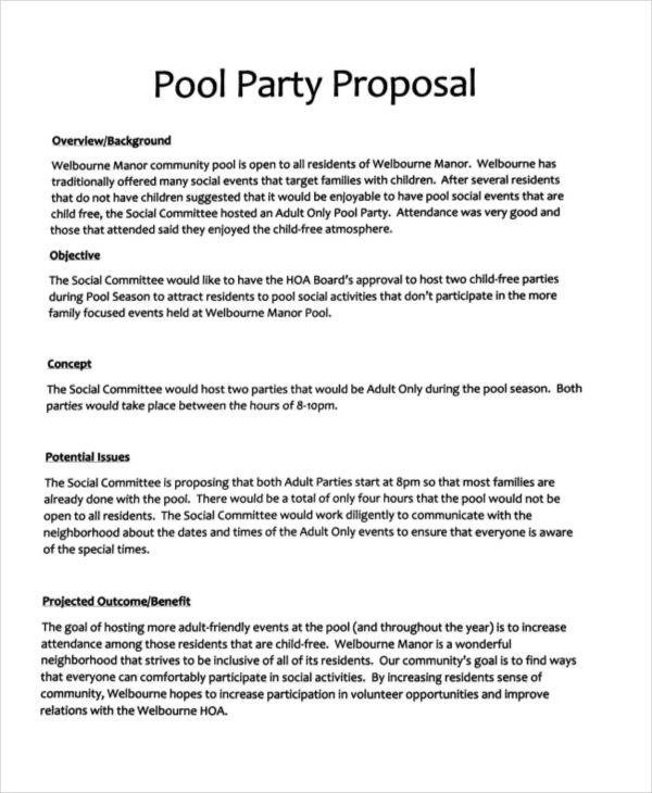 24+ Event Proposal Templates Sample Templates - proposal for event