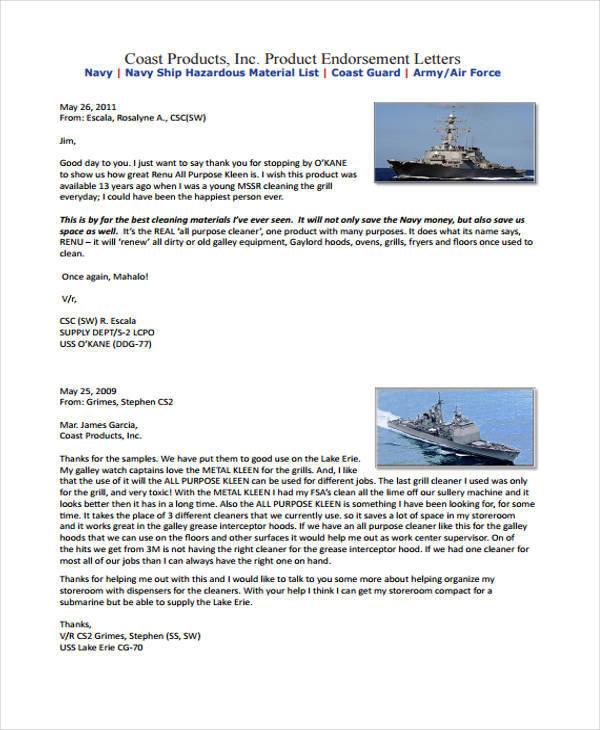 16+ Endorsement Letters Samples  Templates - PDF, DOC