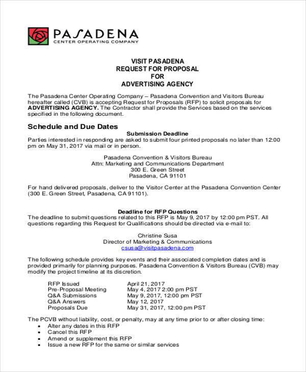 9+ Advertising Proposal Templates \u2013 Free Documents in Word, PDF - advertising proposal template