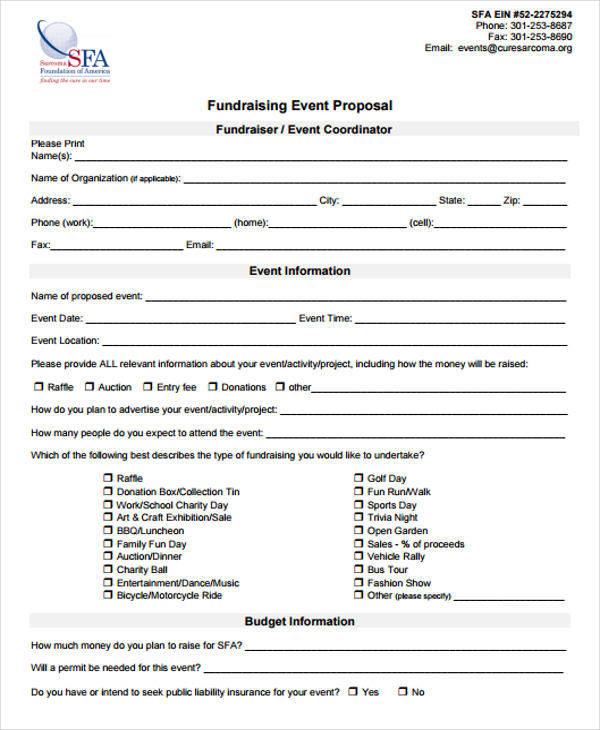 Fundraising Proposal Template - 6 Free Documents in Word, PDF - fundraising proposal template