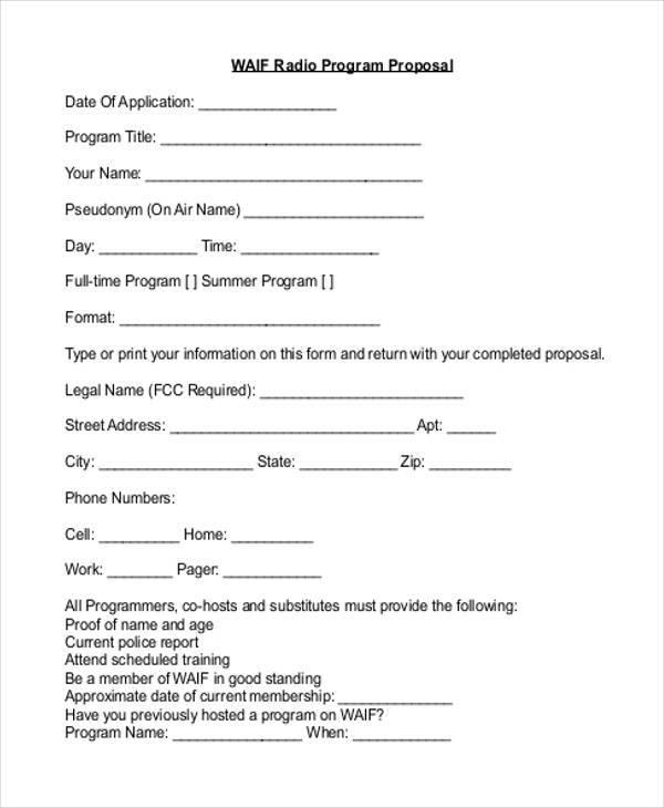 8+ Program Proposal Samples  Templates in PDF