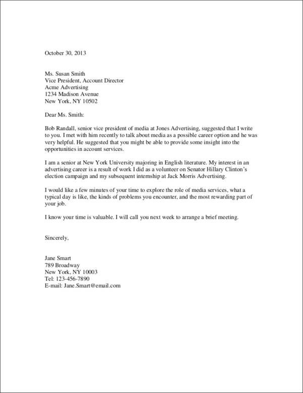 cover letter with referral name