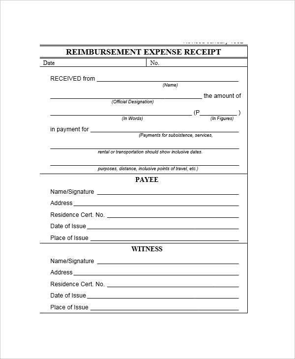7+ Expense Receipt Template - Examples in Word, PDF