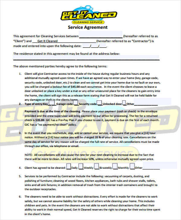 28+ Contract Templates in Doc Sample Templates - residential service contracts