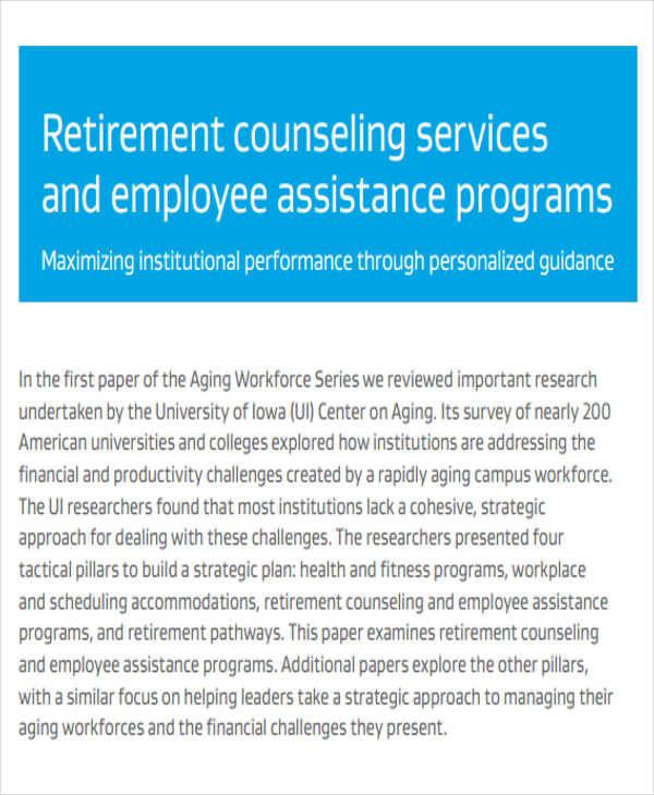 7+ Retirement Program - Free Sample, Example, Format Download - retirement programs