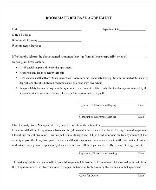 9+ Release Agreements - Free Downloadable Samples, Examples, and - release agreement