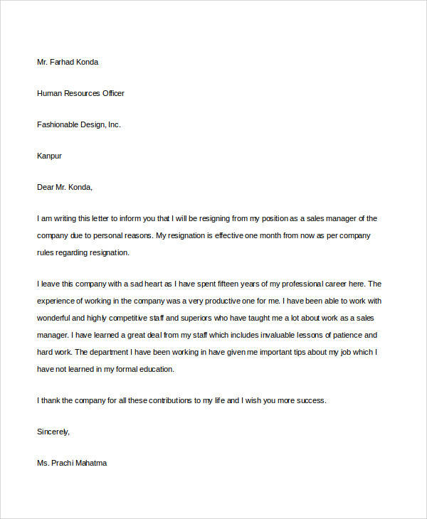 Resignation Letter Format - quick tips writing resignation letters