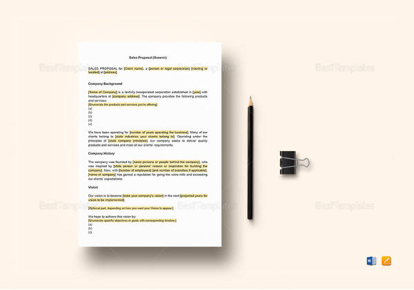 sales proposal template free download - Towerssconstruction