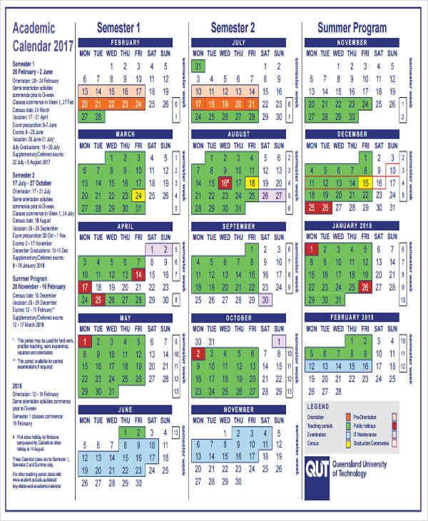 36 Printable Calendar Samples  Templates Sample Templates