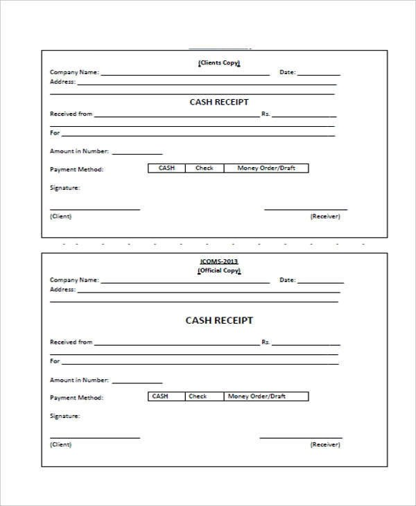 Cash receipt format cvlook05billybullockus – Cash Receipt Sample