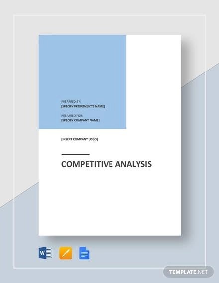 Sample Competitive Analysis - 14+ Documents in PDF, Word