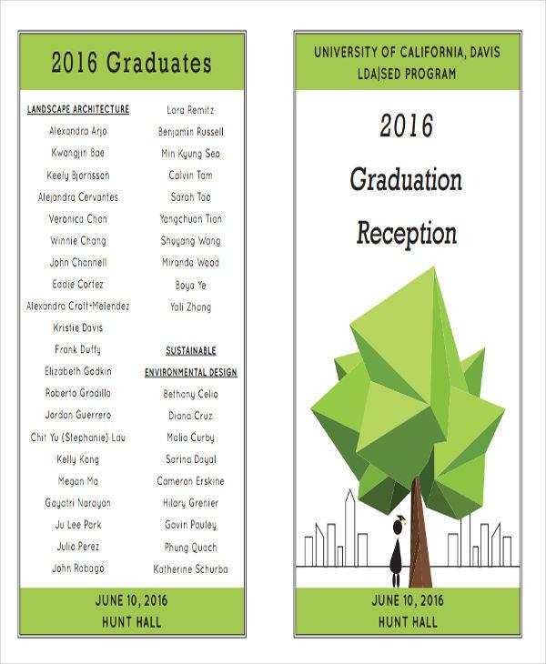6+ Graduation Program Templates \u2013 PDF, WORD Sample Templates