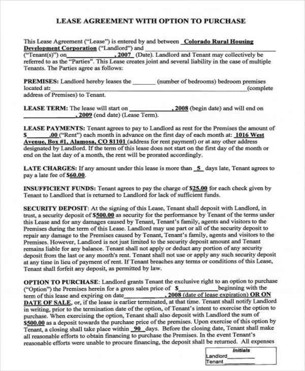 Rent To Own Home Contract Example Of Registered Rental Agreement - rent to own home contract