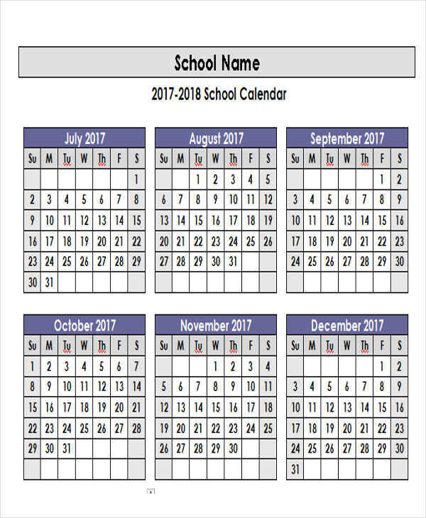 5+ Academic Calendar Templates - Free Sample, Example, Format Download