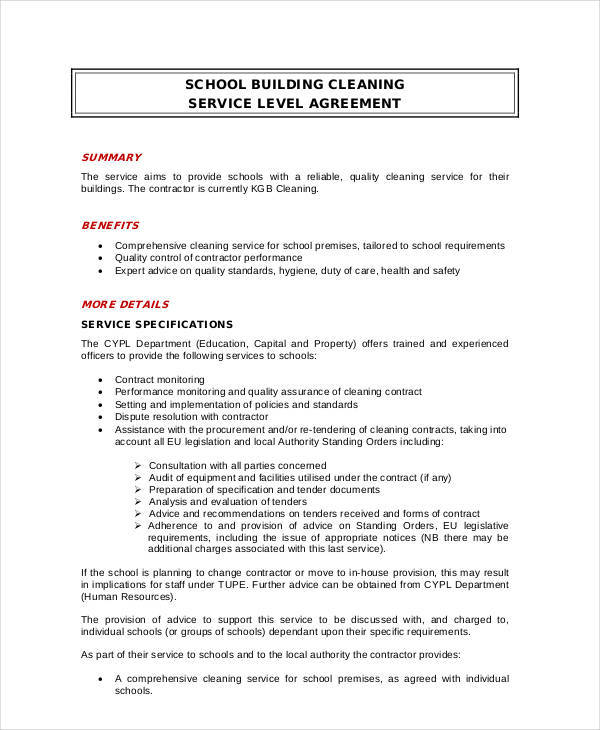 12+ Cleaning Contract Templates - Docs, Word, Pages