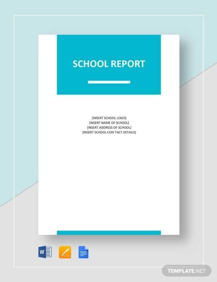 free progress report template