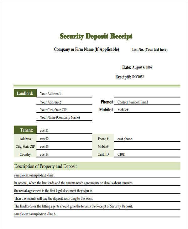 7+ Deposit Invoice Templates - Examples in PDF